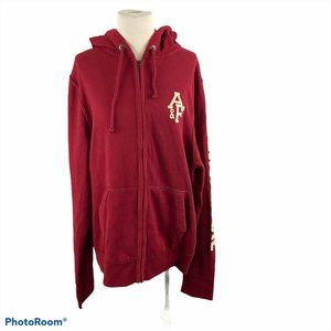 NWOT ABERCROMBIE Zip Up Red Sweater